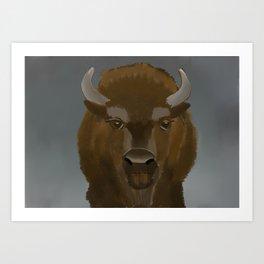 Where the Buffaloes Roam Art Print