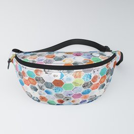 Various Marbled Hexagons Fanny Pack