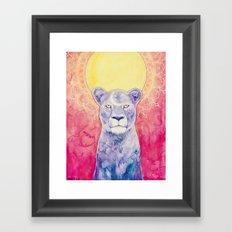 Cosmic Lioness Framed Art Print