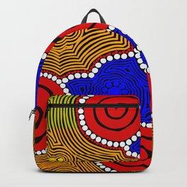 Authentic Aboriginal Art - Circles Backpack