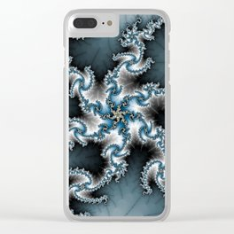 Fractal Shuriken Clear iPhone Case