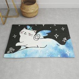 Lovely Unicorn (Blue) Rug