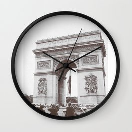 SALE, PARIS Italy Photography, Set of 4 Prints, Travel Decor, Black and White, Colosseum, ART Wall Clock