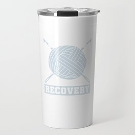 Crocheting Needlecraft Crocheter I'm A Crochetaholic On Recovery Crochet Gift Travel Mug