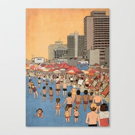 Tel Aviv Beach in the 80s Canvas Print
