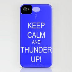 keep calm & thunder up! iPhone (4, 4s) Slim Case