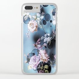 Bubbly Birdy Blue Botanic Clear iPhone Case
