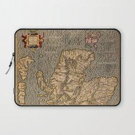 Vintage Map of Scotland Laptop Sleeve