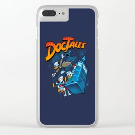 Doctales Dr Who/Ducktales Clear iPhone Case