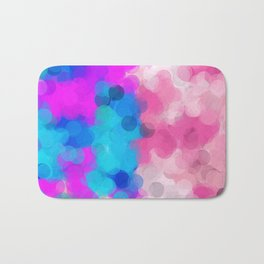 pink and blue painting circle abstract background Bath Mat
