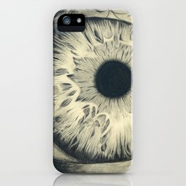 Charcoal EYE iPhone Case
