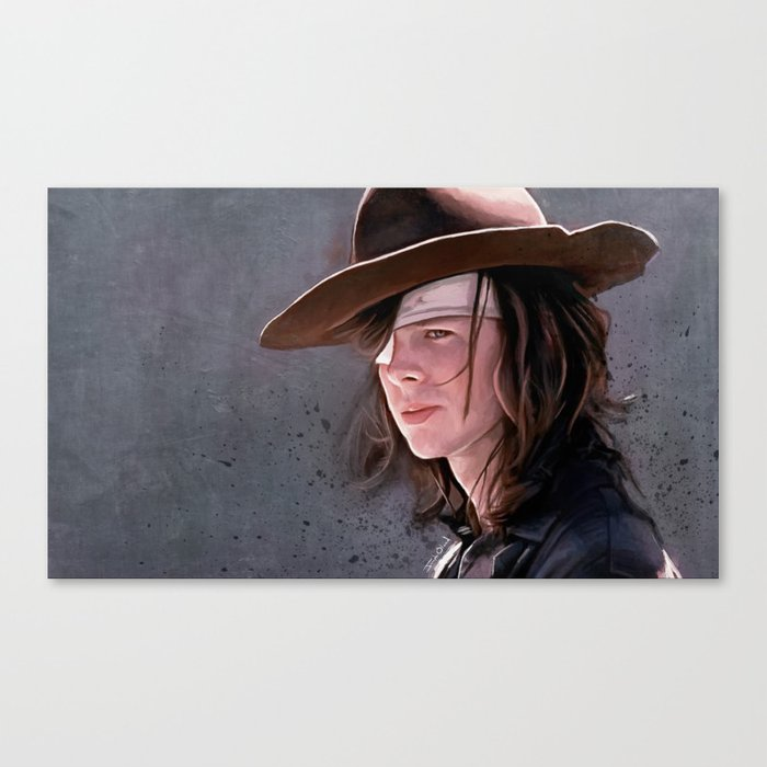 Carl Grimes Before The Fall - The Walking Dead Canvas Print