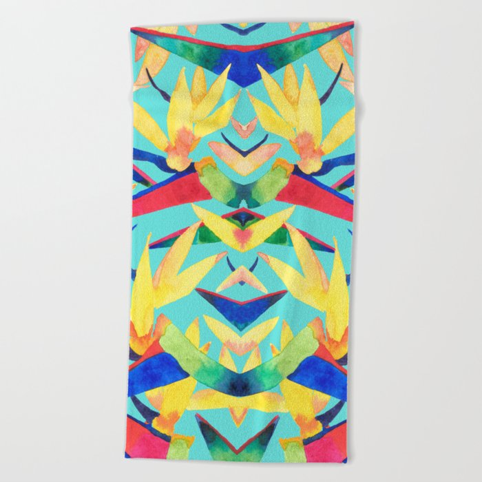 Summer Tropics Beach Towel