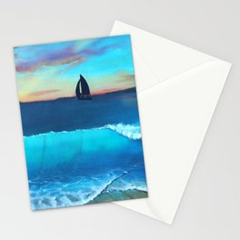 North Side Sunrise Seascape Mural Stationery Cards