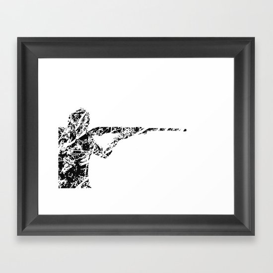 The man with the gun Framed Art Print