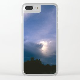 Ray of Hope in the Stormy Sky Clear iPhone Case