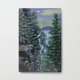 Mount Rainier National Park (Night) Metal Print