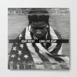 Asap Album Cover Rocky Poster Long Live Metal Print