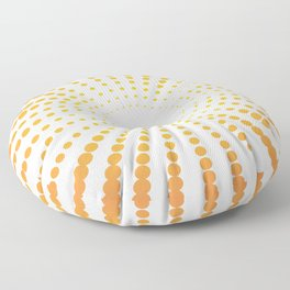 ORANGE DOTS SWIRL ON A WHITE BACKGROUND Abstract Art Floor Pillow