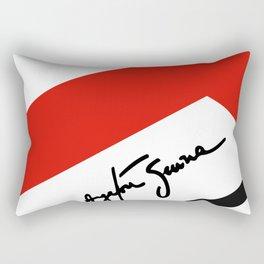 Ayrton Senna Mclaren Honda Formula 1 Rectangular Pillow