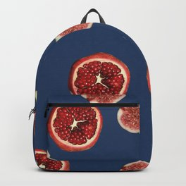 Pomegranate - Figs Pattern blue Backpack
