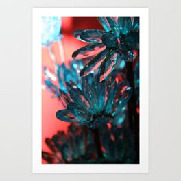 BLING FLOWER Art Print