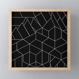 White Lines on Black III Framed Mini Art Print