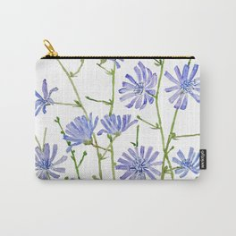 blue chicory watercolor Carry-All Pouch