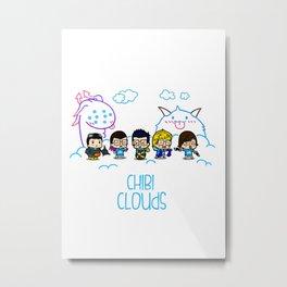 Chibi Clouds Metal Print