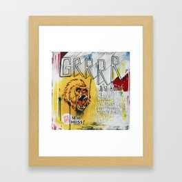 GRRRR Framed Art Print