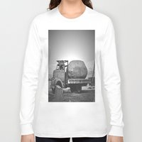 potato Long Sleeve T-shirts featuring Spud Potato by Jane Lacey Smith
