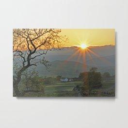 Sundown At Malhamdale Metal Print