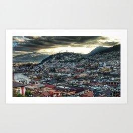 City of Clouds Art Print