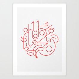 Lines 02 Art Print