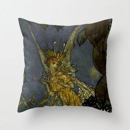 """The Fairy Queen"" Fairy Tale Art by Edmund Dulac Throw Pillow"