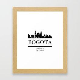 BOGOTA COLOMBIA BLACK SILHOUETTE SKYLINE ART Framed Art Print