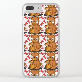 Mom's Bear Love Clear iPhone Case