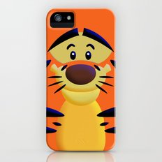 Cute Orange Cartoons Tiger Apple iPhone 4 4s 5 5s 5c, ipod, ipad, pillow case and tshirt Slim Case iPhone (5, 5s)