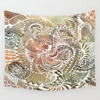 batik Wall Tapestries featuring Batik by brenda erickson