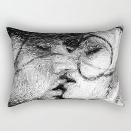 Abstract Ink Kiss Rectangular Pillow
