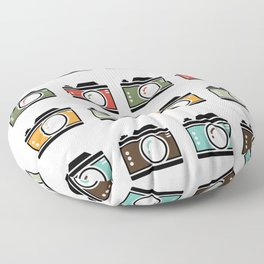 Colourful Camera Icons Floor Pillow