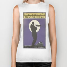 Vintage poster - City of New Orleans Biker Tank