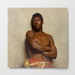 African-American Study of a Black man, A Portrait by Ernst Max Pietschmann Metal Print