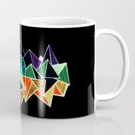 Black geometric minimal triangle Coffee Mug