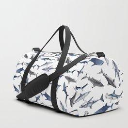 SHARKS PATTERN (WHITE) Duffle Bag