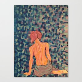 """Numb"" Fibromyalgia Warrior Acrylic Painting Canvas Print"