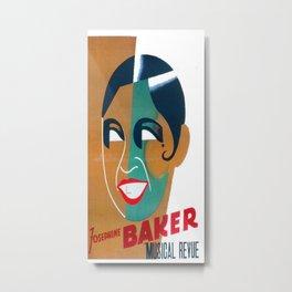 Josephine Baker Vintage Poster for Stockholm Metal Print