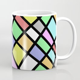 Crazy Pastel Paving - Abstract, pastel coloured mosaic paved pattern Coffee Mug