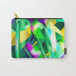 GREEN-ACID Cubism Abstract Digital Art Carry-All Pouch