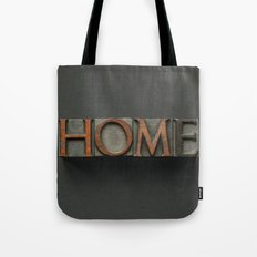 Vintage Home Letters Tote Bag